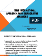 Powerpoint Presentation on Directive Informational Approach