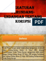 Peraturan Perundang- Undangan Tentang Korupsi