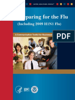 CDC Preparing for the Flu (Including 2009 H1N1 Flu) a Communication Toolkit for Businesses and Employers