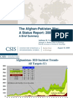 CSIS the Afghan Pakistan War a Status Report 2009 a Brief Summary