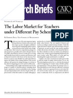 The Labor Market for Teachers under Different Pay Schemes