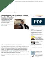 Fabrice Hadjadj _ Par Son Écologie Intégrale, Laudato Si Fera Date