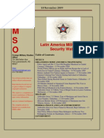 FMSO JRIC Latin America Military and Security Watch 18 November 2009