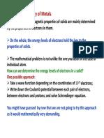 1. Free Electron Model