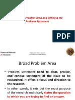 The Broad Problem 3