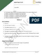 Class 8 Maths Set II Sample Papers