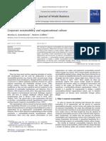 Corporate Sustainabilitu and Organizational Culture