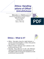IACP Ethics Handling Allegations of Officer Untruthfulness