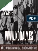 Máster en Pedagogia Musical Kodály
