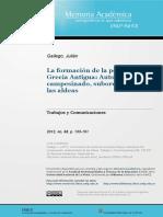gallego- la formacion de la polis en Grecia Antigua.pdf