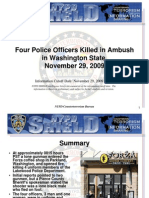 NYPD CTD Four Police Officers Killed in Ambush in Washington State November 29 2009