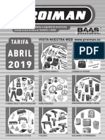 201904 Proiman Tarifa 2019