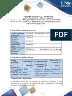 Guía de actividades y rúbrica de evaluación Fase 3 - Realizar lluvia de ideas y selección de la idea adecuada para la solución del problema planteado.docx