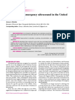 An Overview of Emergency Ultrasound in the United States
