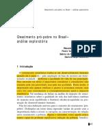 Ribeiro Et Al (2005). Crescimento Pró-pobre No Brasil