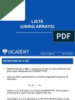 02 Lists (Using Arrays)