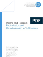 The International Centre for the Study of Radical is at Ion and Political Violence Prisons and Terrorism Radical is at Ion and de-Radicalisation in 15 Countries