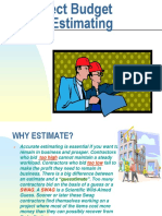 Project Budget and Estimating