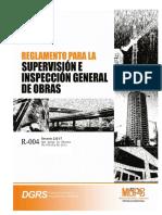 Proyecto r 004 Supervision e Inspección de Obra d No232 17