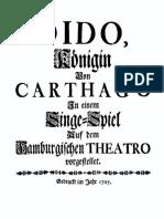 Graupner - Dido, Königin von Carthago [Libretto, 1707]