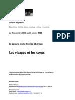 Patrice Chéreau au Louvre - les visages et les corps