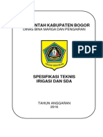 Spesifikasi Teknis Irigasi dan SDA 2016.docx