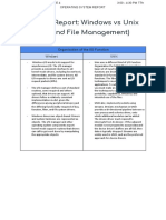 APAS_Written Report- Windows vs Unix (I_O and File Management)