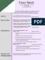CSpeck Resume2019