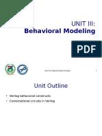 412n_Unit III - Behavioral Modeling