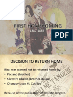 First Homecoming- Jose Rizal