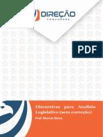 Discursivaspara Analistae Técnicodo Senado(Processo Legislativo) Sem Correção Aula 1