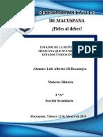 ESTADOS DE LA REPÚBLICA MEXICANA QUE SE UNIERON A ESTADOS UNIDOS EN 1846.docx