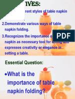 Final Ppt Napkin Folding
