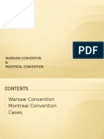 PRIL Report Warsaw Convention and Montreal Convention