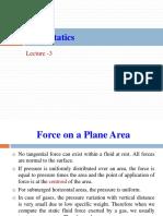 Lecture 3 Fluid Statics