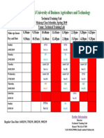 Makeup Class Schedule - TTU
