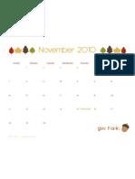 Free November 2010 Calendar