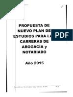 Nuevo Plan de Estudios Abogaciìa-Notariado