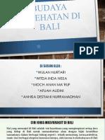 Budaya Kesehatan Di Bali