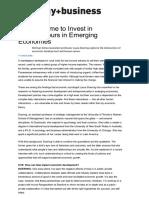 Invest in Entrepreneurs in Emerging Economies
