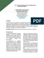 MATERIALES DEL LABORATORIO Y MECHERO BUNSEN