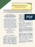 Boletín Jurisprudencial No. 5 del 29 de marzo de 2019