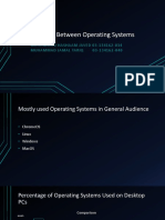 Comparison Between Operating Systems