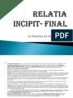 Relatia incipit - final