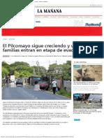 El Pilcomayo Sigue Creciendo y Unas 100 Familias Entran en Etapa de Evacuación
