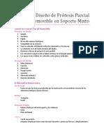 21. Diseño de Prótesis Removible en Soporte Mixto