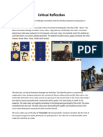 Critical Reflection Media Studies A2 Q1