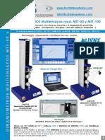 Dinamómetros MULTIENSAYO MTT - Techlab Systems