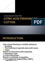 Citric Acid Finshing of Cotton Ppt