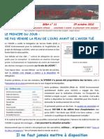 Lassac officiel billet n° 11 (29 octobre 2010)